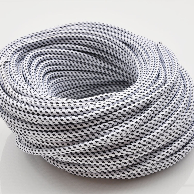 2*0.75mm2 Round Textile Fabric Electrical Wire Braided Chandelier ...