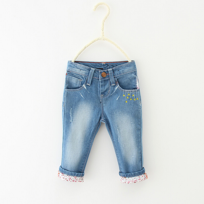 Hosen Shuzhi Neue Kinder Kleidung Casual Baby Mädchen Denim Hosen Infant Blume Jeans Neugeborenen Bleistift Hosen Engen Hosen 9-24 M Mutter & Kinder