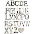 2016 novo adesivo acrílico caracteres amor letras de decoração para casa espelho adesivos de parede alfabeto inglês logotipo frete grátis