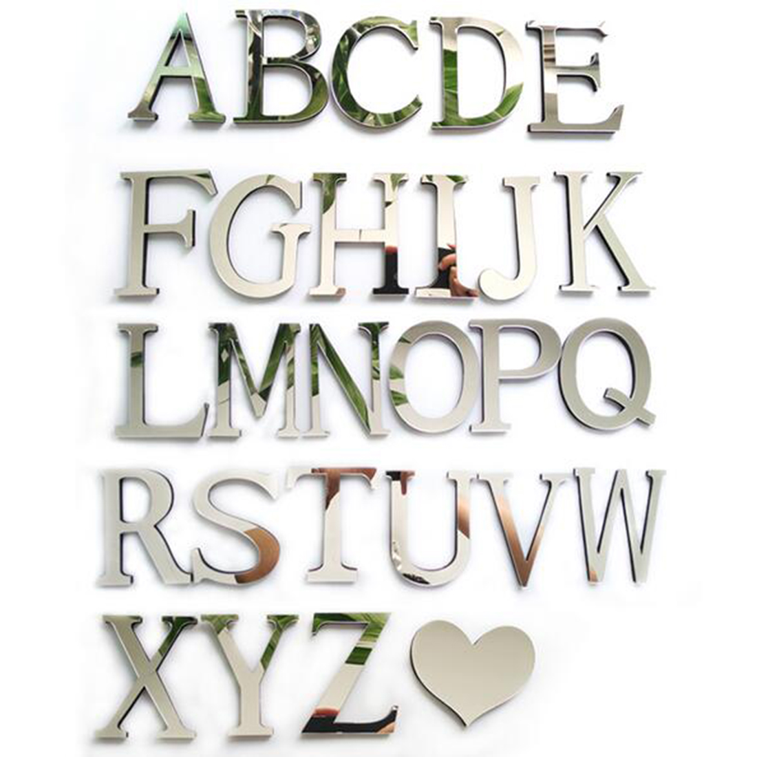 New style wedding love letters home decoration english for Alphabet decoration