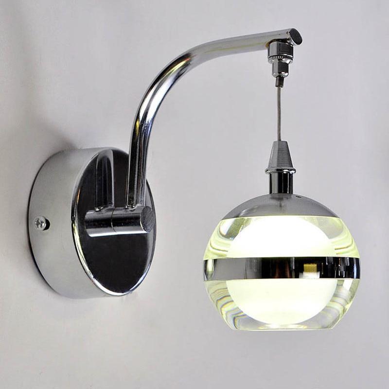 Modern led acrylic wall lamp bedroom bedside wall light ...