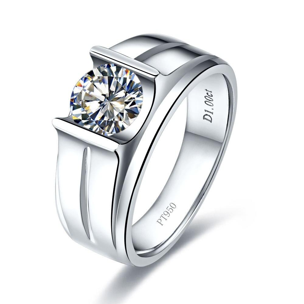 1 Carat White Gold 585 Round Shape Smart Lovely Diamond Wedding Ring