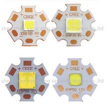 CREE XHP50 XHP70 XHP50.2 XHP70.2 холодный белый нейтральный белый теплый белый светодиодный излучатель 6 в 12 В с 16 мм 20 мм медной печатной платой