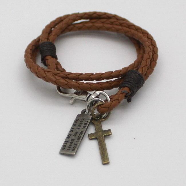 Fashion Infinity Bracelet Cross Bracelet Bangle Jewelry Leather Bracelet