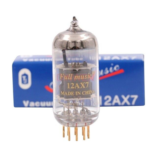 Tj fullmusic 12ax7 ecc83 tubos de vácuo tubo de elétron para áudio de alta fidelidade do vintage tubo de guitarra amp fone de ouvido pré amplificador microfone