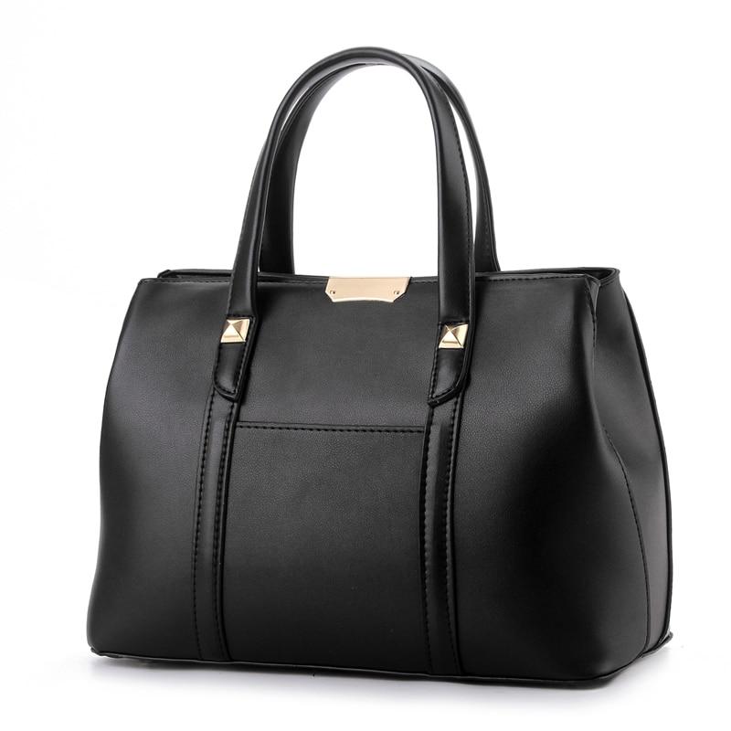 ФОТО Women Leather Handbags Candy Color Shoulder Bag For Ladies Designer Top Handle Bags High Quality 2016 New Bolsos Femininas