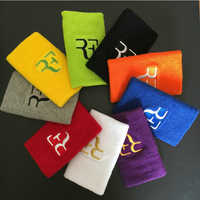 1 pc RF 12,5*7,5 cm pulseras de algodón deporte sweatband banda de mano para gimnasio voleibol tenis sudor muñeca soporte brace secreto guardia