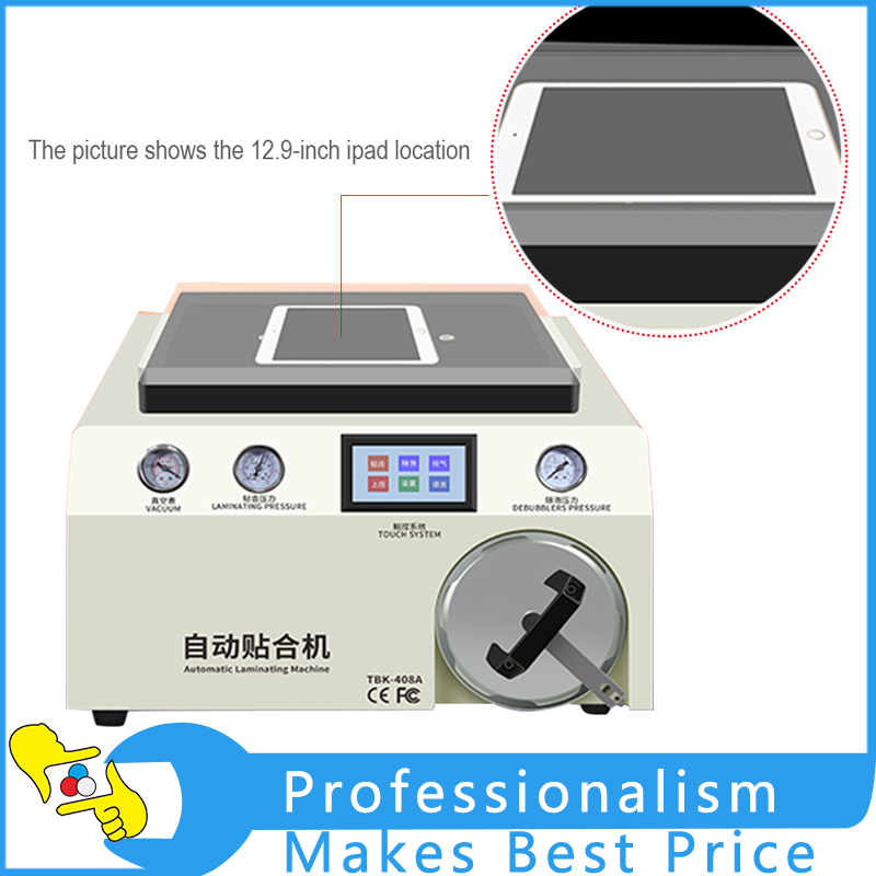 Large-size Automatic Bubble Removing Machine Laminating Machine Five-in-one Vacuum Fusing Machine Separator TBK408A new tbk 608 automatic oca vacuum laminating with bubble removing machine for lcd touch screen repair