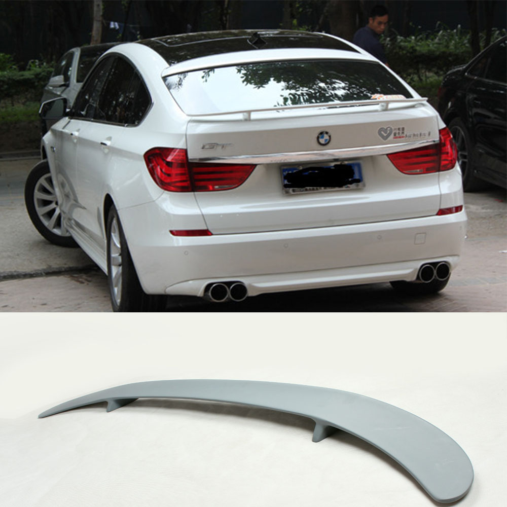 For BMW 5Series GT HM Style FRP Primer Rear Trunk Lip Spoiler Wing 2010 2013