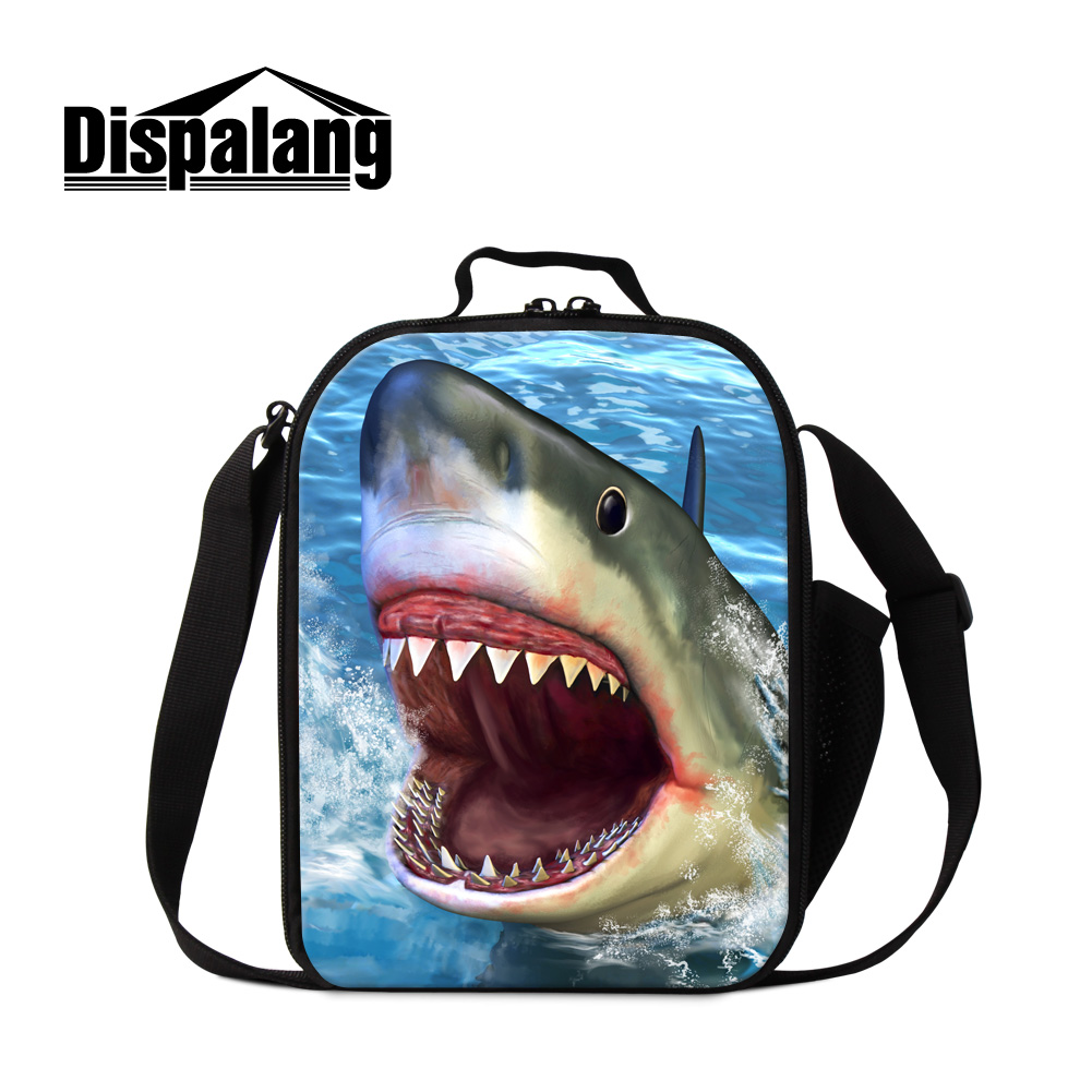 507957ebc8ba US $16.3 29% OFF|Dispalang Insulated Lunch Bags For Women Customize Design  Shark Lunch Box Bag For Kids Men Portable Thermal Food Insulation Bags-in  ...