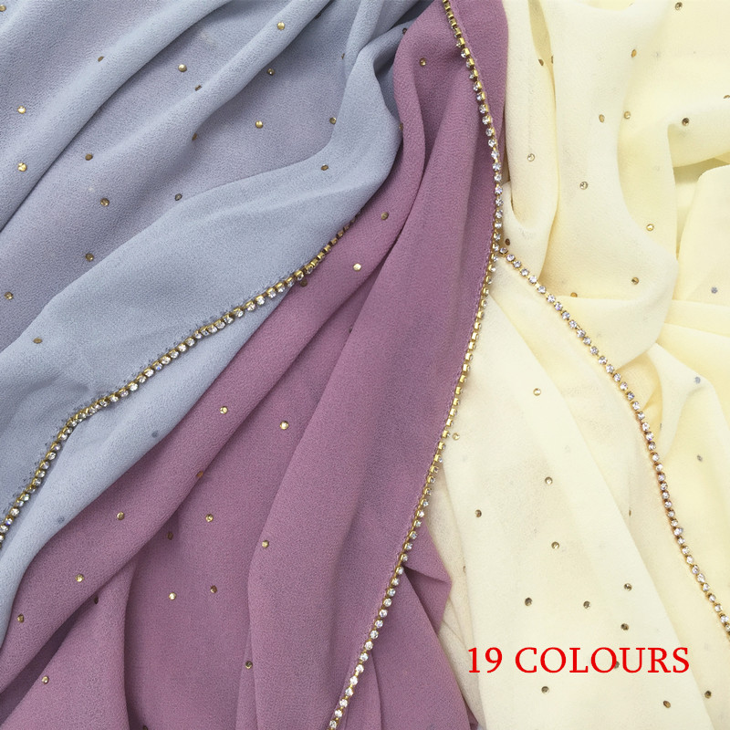 2017 New Fashion Hot Sale Bubble Chiffon Solid Hijab Scarf Plain Shawl Wraps Echarpe Muslim Foulard Soft Scarves 50pcs/lot