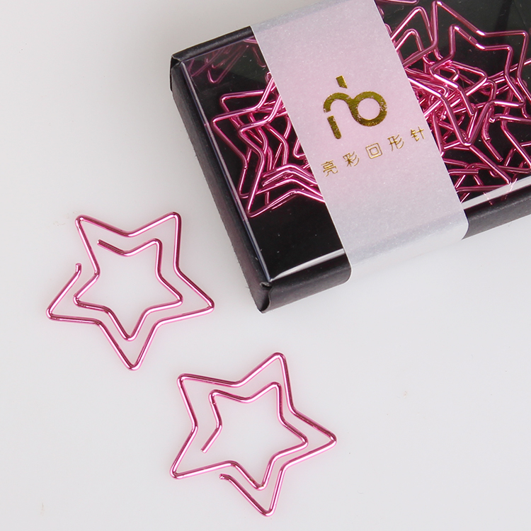 Pentagram Bookmark Stars Paper Clip Color Clip Office Accessories Paperclips Metal Paper Clips Bureau Accessoires Paperclip