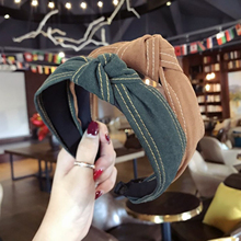 New Classic Hairband Headband Women Denim Cloth Hair Accessories For Adult High Quality Band Wholesale