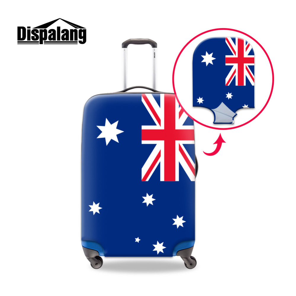 Dispalang National flag Print Travel Luggage Cover For 18-30 Inch Trolley Case Anti-scratch Dustproof Elastic Suitcase Protector