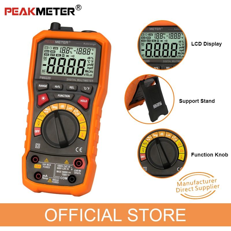 PEAKMETER PM8229 Multimetro digitale automatico 5 in 1 con Lux - Strumenti di misura - Fotografia 5