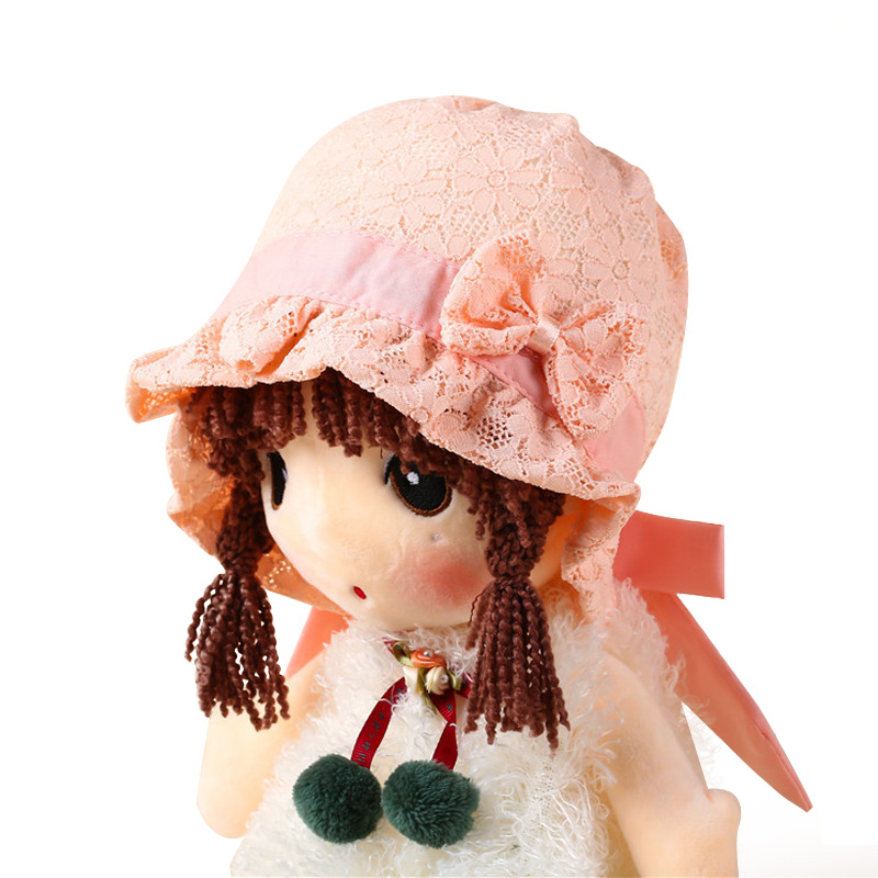 Bowknot Girl Hat Breathable Baby Summer Hat Lace Flower Princess Baby Hat For Girl Cotton Soft Infant Beanie Baby Girl Clothing