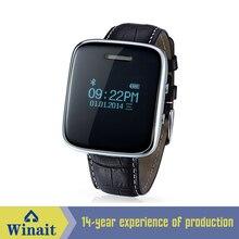 2016 neue smart watch zeit und datumsanzeige lederband Music Call Klingeln Erinnern Alarm Smartwatch für Männer IOS Android telefon