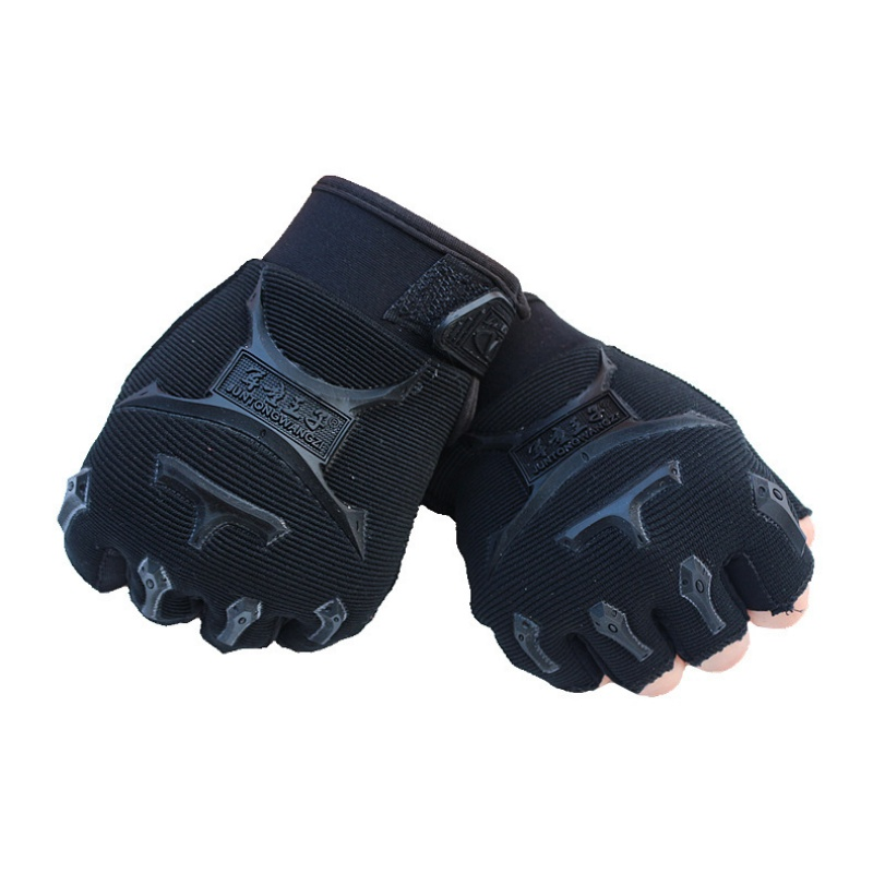 Kids Child Boys Cycling Gloves Breathable Half Finger Mitten Outdoor Sports Fishing Riding Climbing Non slip Training Glove in Cycling Gloves from Sports Entertainment