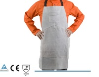 Leather Welding Apron Welder Protect Clothing Carpenter Blacksmith Gardening Work Cowhide Clothing 95X56CM Gray Color