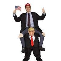 Donald Trump Hosen Lustige Party-Event Kleid Up Fahrt auf Mich Maskottchen Tragen Zurück Neuheit Halloween Cosplay Kleidung Disfraz Kostüme