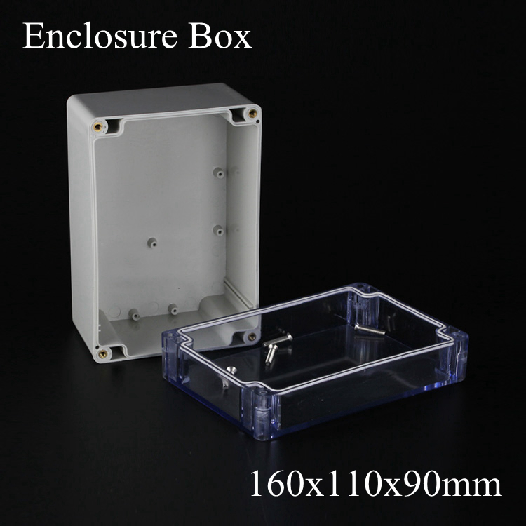 160*110*90m Waterproof Sealed Enclosure Case DIY Junction Box with transparent Clear cover 160x110x90MM surface mounted plastic sealed electric junction box case 230x126x80mm