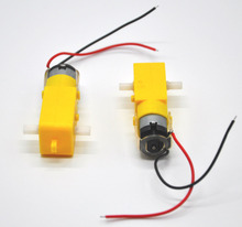 Free Shipping (2 pcs) Gear motor 3V-6V90 RPM TT motor intelligent car chassis, four-wheel-magnetic interference