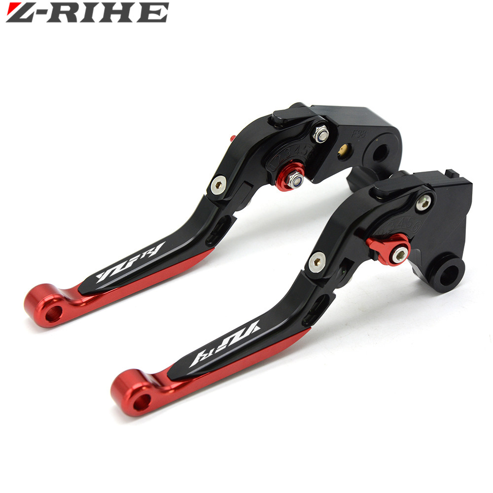 With Logo(YZF R1) Red+black CNC New Adjustable Motorcycle Brake Clutch Levers For Yamaha YZF R1 2009 2010 2011 2012 2013 2014 6 colors cnc adjustable motorcycle brake clutch levers for yamaha yzf r6 yzfr6 1999 2004 2005 2016 2017 logo yzf r6 lever