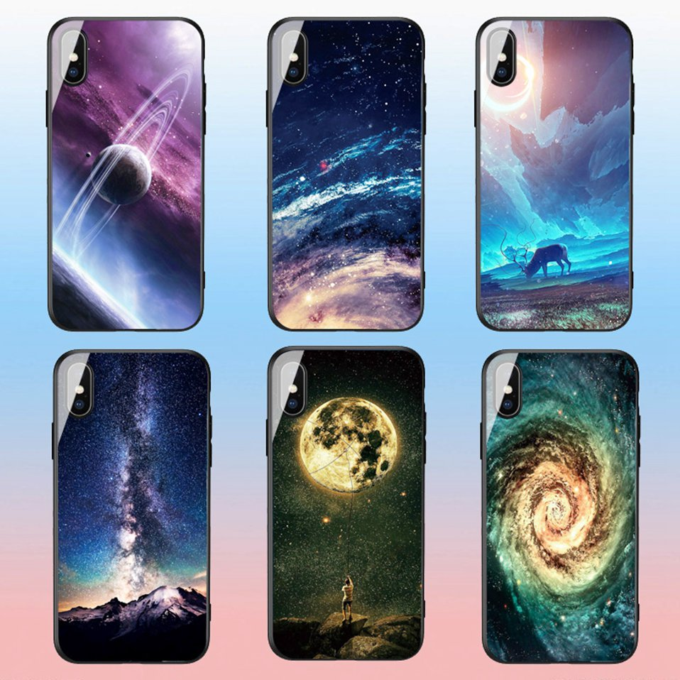 Phone Glass Case For Huawei Nova 3 2i Coque Silicone Luxury Case For Huawei P20 Pro Honor Play 7A 9 Mate 10 Lite P Smart Y6 2018 (3)