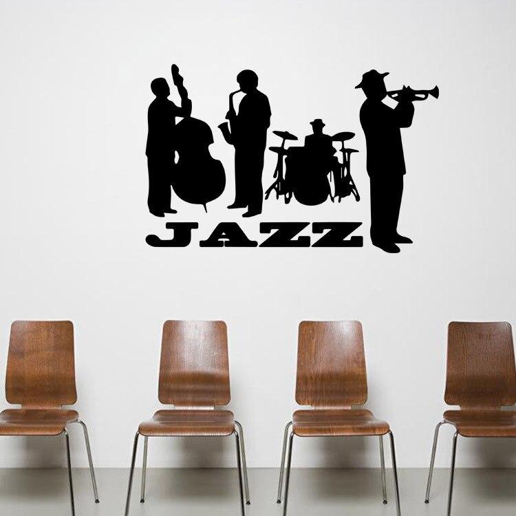 Jazz concert art mural decor sticker jazz lover home decor for Concert wall mural