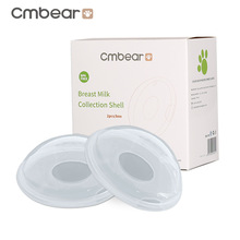 Cmbear 2Pcs Reusable Portable Breast Prevent Leakage Milk Pump Feeding Collector Postpartum Pregnant Women PP Material