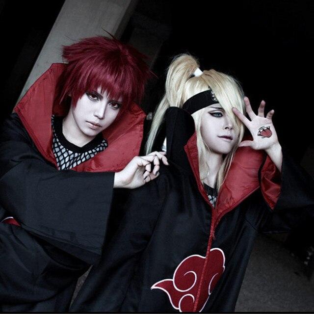 Naruto akatsuki cosplay traje akatsuki manto falcão cobra cosplay traje