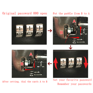 Image 3 - ポータブルセキュリティ金庫マネージュエリー収納コレクションボックスofficeのコンパートメントトレイパスワードロックボックスl 4色