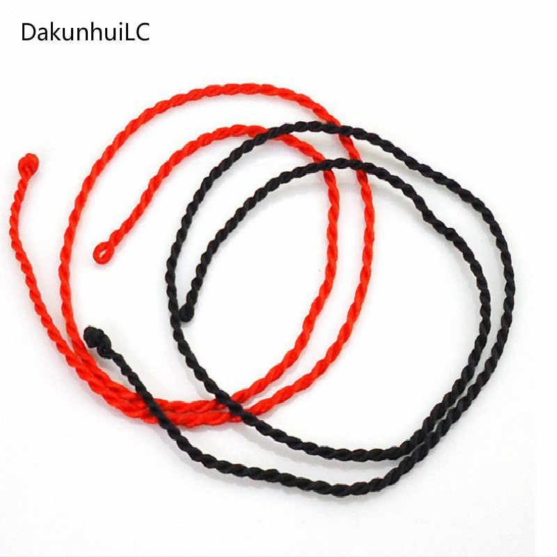 1pc Lucky Fashion Red Necklace Twist Rope Bracelet for Women Adjustable Handmade Jewelry Lovers Diy Joyas Men String Line 2019
