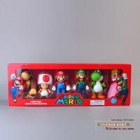 Super Mario Bro Mario Luigi Donkey Kong Peach Toad Yoshi PVC Action Figure Model Toys Dolls