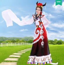 Tibetan nationality costumes for women chinese national costume for women national costume china festive dance dress