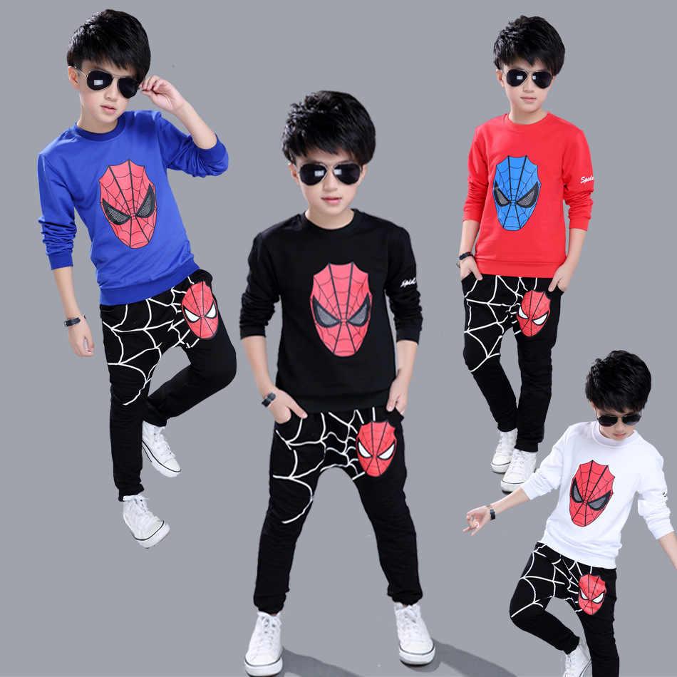 -Паук мужской костюм для косплея комплект детской одежды Человек-Паук Мужской Одежда для малышей Комплект Спортивный комплект шорты для мальчиков + топы повседневный комплект