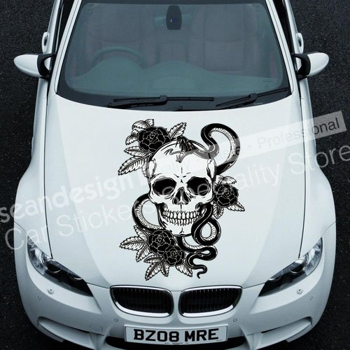 Cool! Totem Skull I TT016 Auto Car Decal Sticker PVC(black,white,red,Gray colour) cool screaming mask w tongue white black red