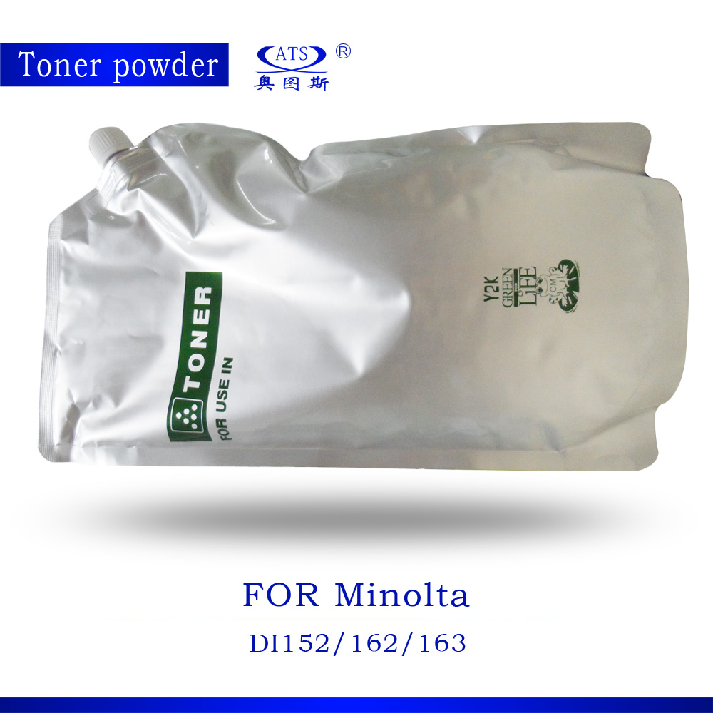 ФОТО 1PCS 1KG Toner Poudre Photocopy machine For Minolta Toner Powder parts DI152 162 163 1611 210 2011 7516 7616 7521 211