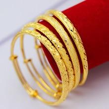 Fashion gold-plated Bangles 24K ladys Vietnam Shajin birthday gift
