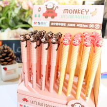 Chenguang student stationery  monkey needle full 0.38mm unisex pen gel