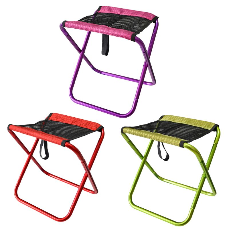 Outdoor Foldable Fishing Chair Ultra Light Portable Camping Oxford Cloth Aluminum Alloy Picnic Fishing Chair Fishing Chairs     - title=