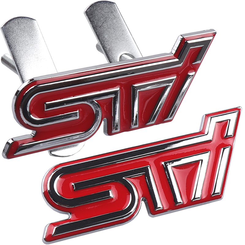 Metal 3D Car Styling STI Front Grille Sticker Car Head Grill Emblem Badge For Subaru XV Legacy Forester Impreza STI WRX