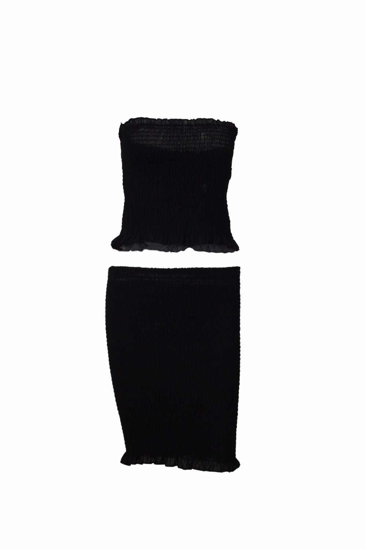 Venta de cuello redondo de algodón para mujer envío gratis 2019 nuevo Sexy Falda plisada traje de mujer