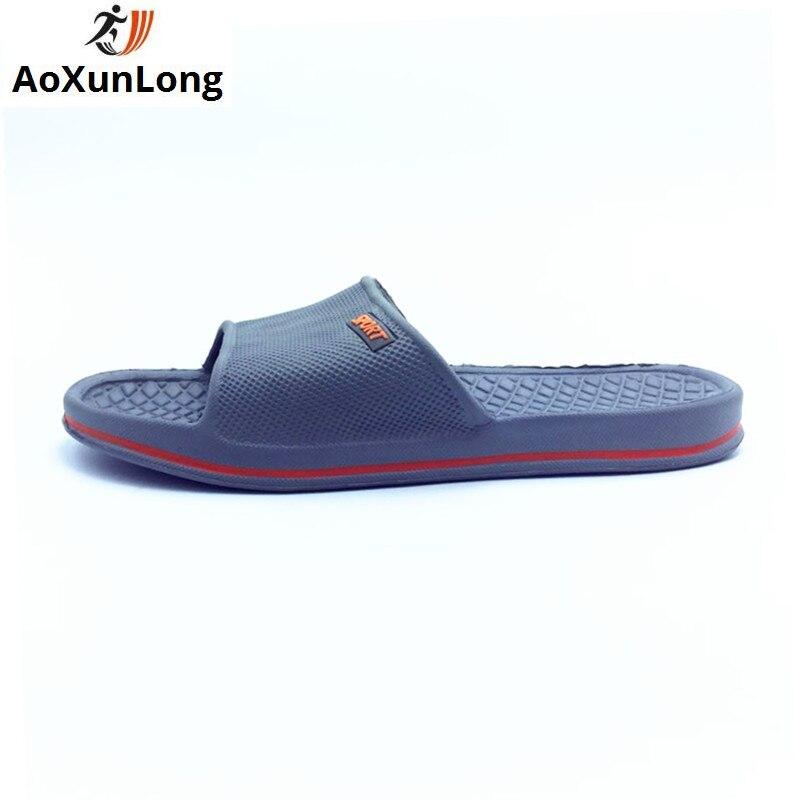 Aoxunlong жаркое лето Для мужчин Тапочки Flat Slide домашние тапочки пляжная повседневная обувь Для Мужчин серый ЕС 40/44 шлепанцы Для мужчин Мужская о... ...