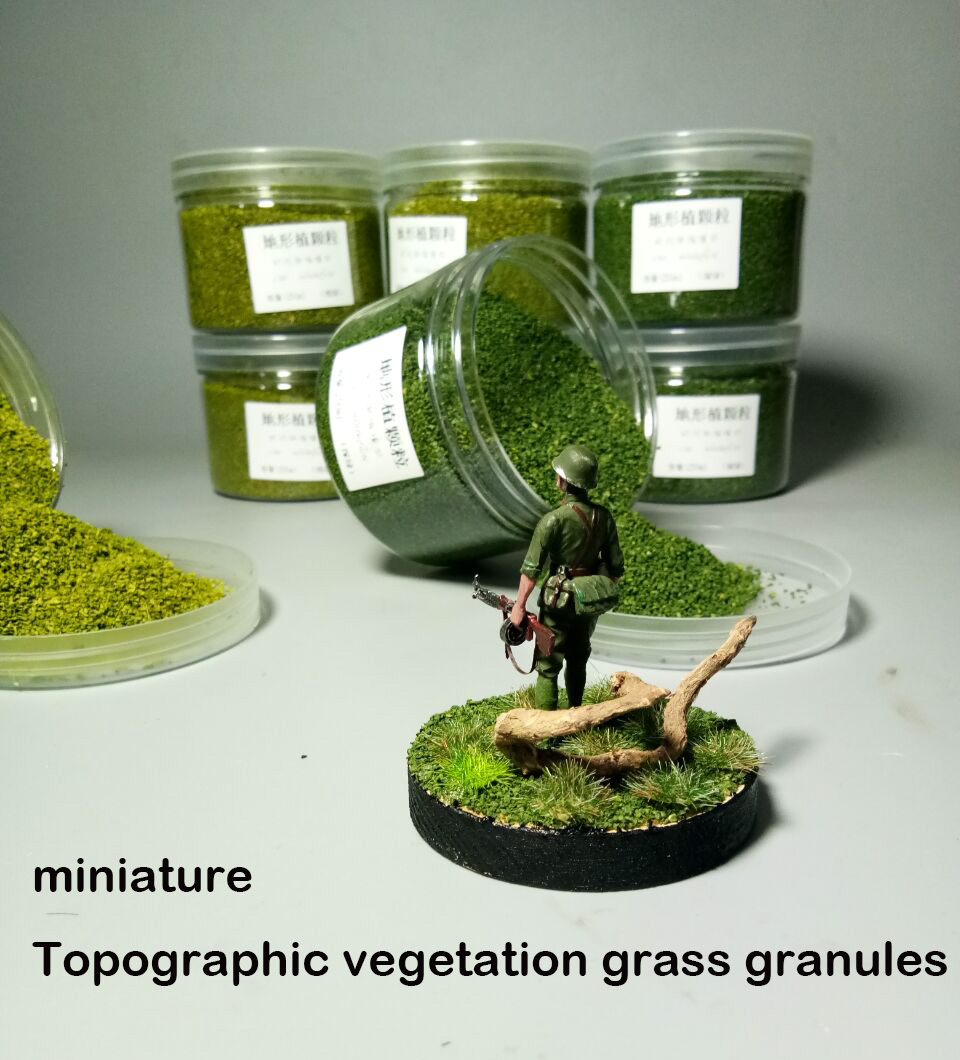 Miniature  Model  Grass Particles Of Topographic Vegetation  DIY Production Of Train Sand Table Building 250ml
