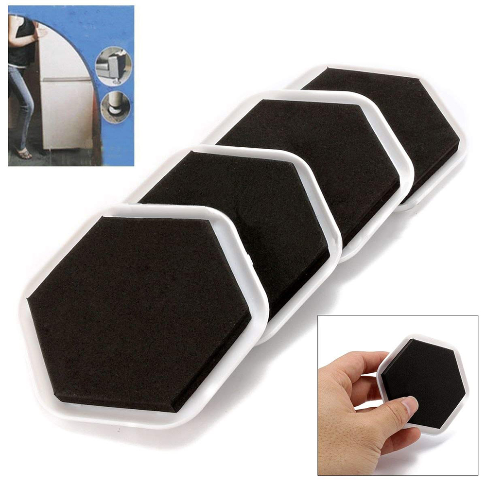 4pcs/set Heavy Duty Furniture Moving Sliders Table Moving Pads Floor Protectors House Moving Helper Easy Moving Accessories