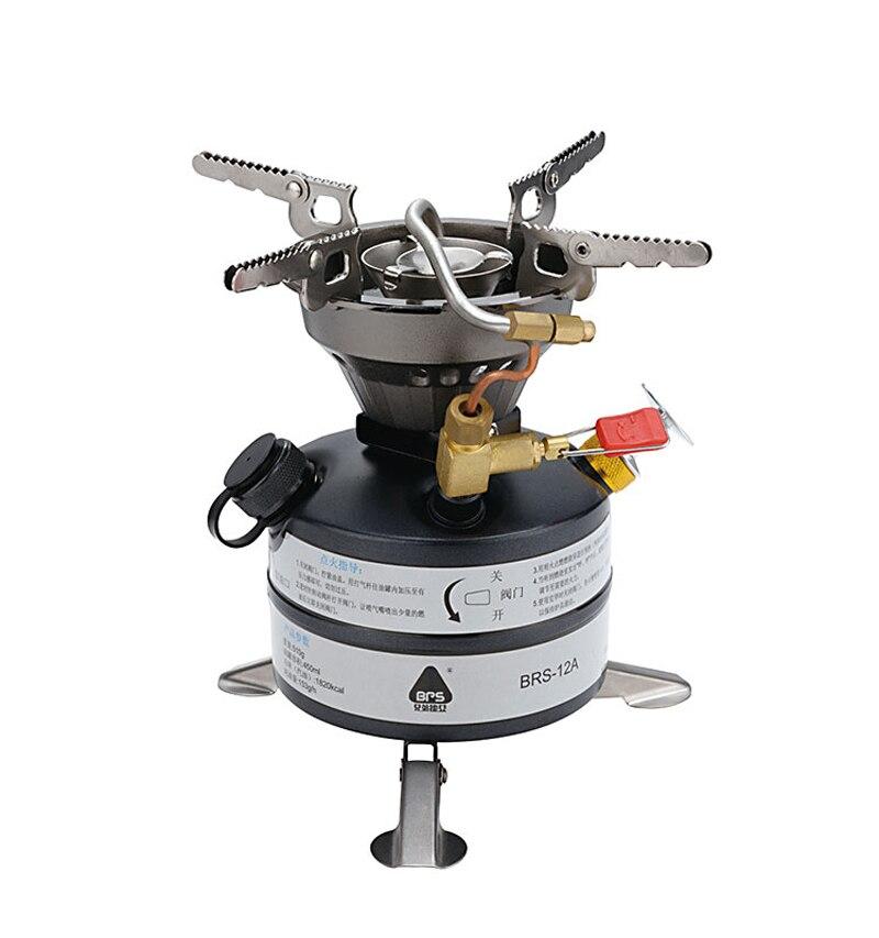 Brs extérieure poêle à l'huile huile de cuisson four camping cuisinière intégrée brs-12a