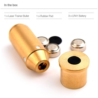 Training Laser Bullet Bore Sight with 5 100 Yards Mini Red Dot Laser Trainer Cartridge Sight for .44Mag Caliber Collimator