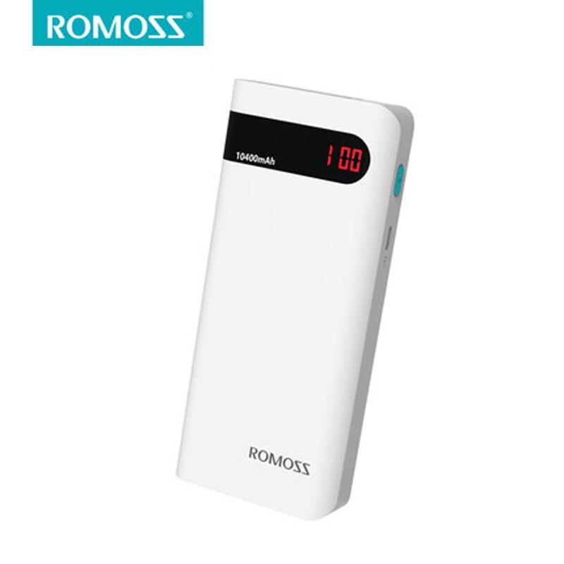 imágenes para ROMOSS Sense4p con Indicador de Batería LCD Banco de la Energía 10400 mAh Cargador de Batería Portátil 18650 Dual USB de Salida pover poverbank