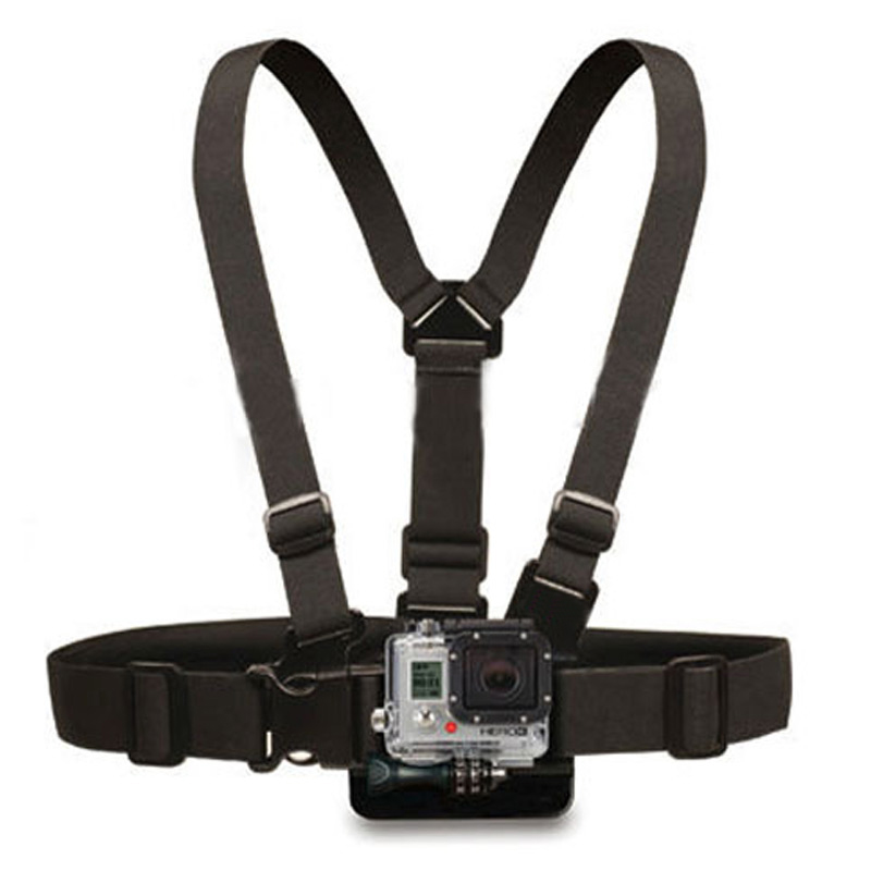 Newly Adjustable Chest Mount Harness Chest Strap Breast Belt for GoPro HD Hero 4 3+ 3 2 1 SJ4000 SJ5000 Camera GP26 miniisw m ac universal curved surface mount kit for gopro hero 4 3 3 hero2 hero sj4000 black